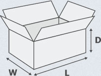 Box Dimensions WxLxD Reference Graphic